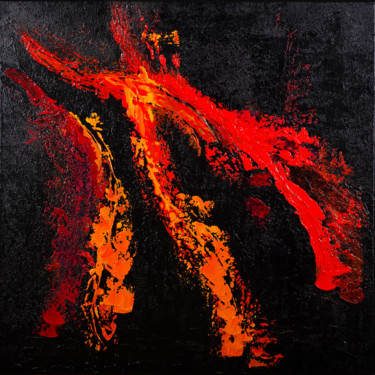 Red Hot Lava no.1913 Ready to hang and free shipping