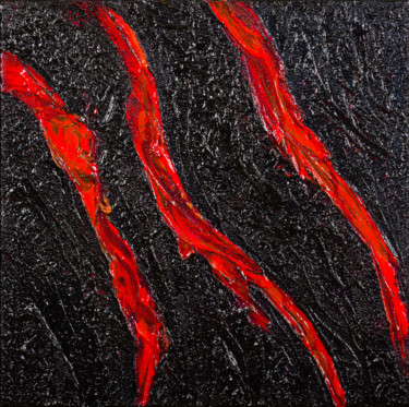 Lava Flow #1914 Ready to hang - Free shipping