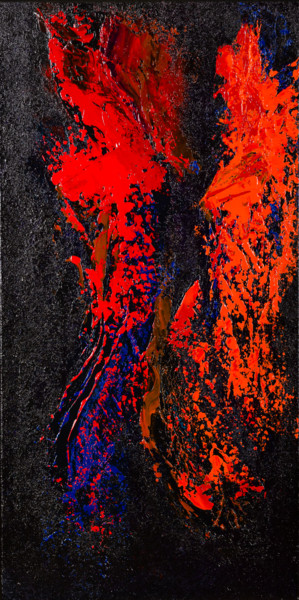 Glowing Hot Lava #1923 Ready to hang-Free shipping