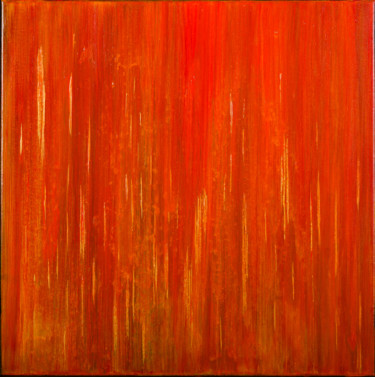 Golden Flames 2 (Ready to hang-Free shipping)