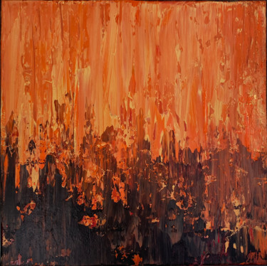 Earth on Fire (Ready to hang - Free shipping)