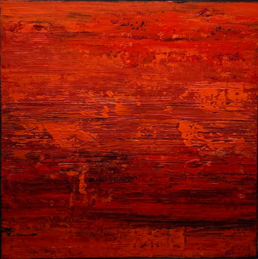 Red Hot Lava no.2123 (Ready to hang - Free shipping)
