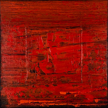 Red Hot Lava Field (Ready to hang - Free shipping)