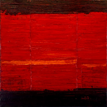 Red Hot Lava Field 2 (Ready to hang - Free shipping)