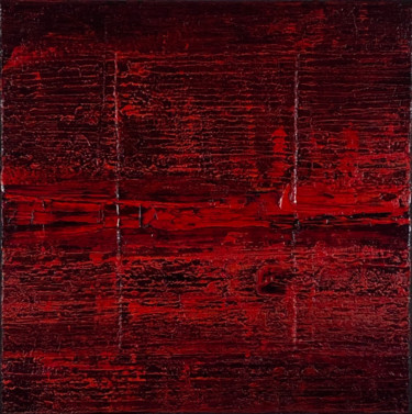 Red Hot Lava Field 12 (Ready to hang - Free shipping)