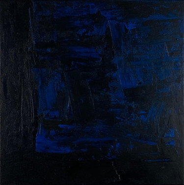 Black with Blue no.2161 Ready to hang - Free shipping